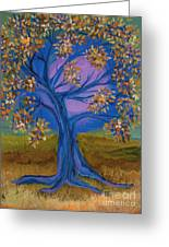 Bridesmaid Tree Blue Greeting Card by First Star Art