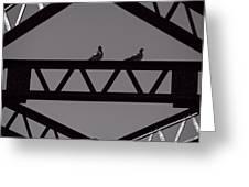 Bridge Abstract Greeting Card by Bob Orsillo