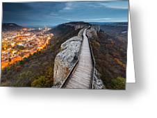 Bridge Between Epochs Greeting Card by Evgeni Dinev