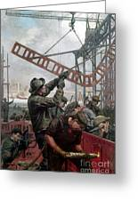 Bridge Construction 1909 Greeting Card by Granger