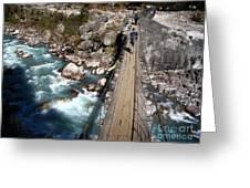 Bridge Crossing Greeting Card by Tim Hester