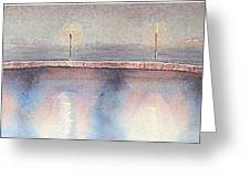 Bridge Lights Greeting Card by Michael McGrath