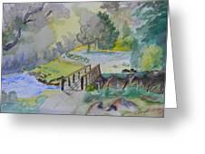 Bridge Near Enniskerry Ireland Greeting Card by Warren Thompson