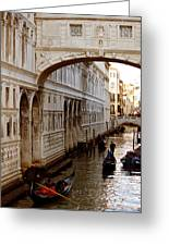 Bridge Of Sighs Venice Greeting Card by Cedric Darrigrand