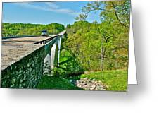 Bridge Over Birdsong Hollow At Mile 438 Of Natchez Trace Parkway-tennessee Greeting Card by Ruth Hager