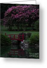 Bridge Over Peaceful Waters Greeting Card by Amy Stuart Langlo