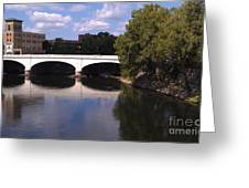 Bridge over the St. Joseph River  --  South Bend Greeting Card by Anna Lisa Yoder