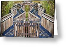 Bridge To Beyond Greeting Card by Chuck Staley