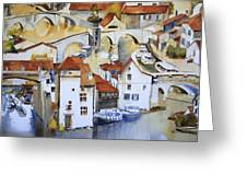 Bridge To Lock Greeting Card by Shirley  Peters