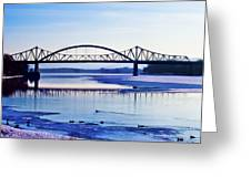 Bridges Over The Mississippi Greeting Card by Christi Kraft