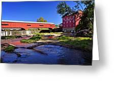 Bridgeton Covered Bridge 4 Greeting Card by Marty Koch