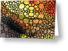 Bridging The Gap - Stone Rock'd Art Print Greeting Card by Sharon Cummings