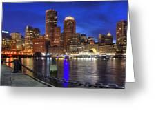 Bright Lights Boston Greeting Card by Joann Vitali