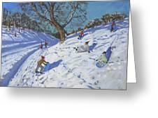 Bright Morning   Chatsworth Greeting Card by Andrew Macara