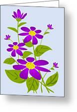 Bright Purple Greeting Card by Anastasiya Malakhova