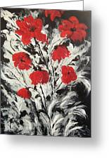 Bright Red Poppies Greeting Card by Renate Voigt
