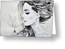 Brigitte Bardot Greeting Card by Ismeta Gruenwald