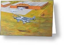 Brisbane Airport 1935 Greeting Card by Murray McLeod