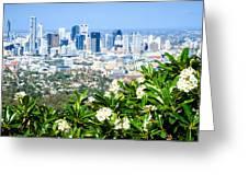 Brisbane Cbd Greeting Card by Peta Thames