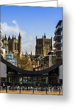 Bristol Cathederal Greeting Card by Brian Roscorla