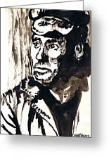 British Coal Miner Greeting Card by Seth Weaver
