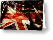 British Flag  Greeting Card by Les Cunliffe
