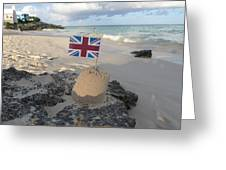 British Sandcastle Greeting Card by Richard Reeve