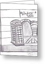 British Telephone Booth   Greeting Card by Melissa Vijay Bharwani