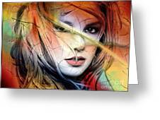 Britney-spears Greeting Card by Mark Ashkenazi