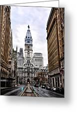 Broad Street Philadelphia Greeting Card by Bill Cannon