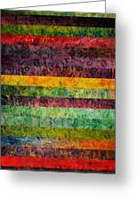 Brocade And Stripes Tower 2.0 Greeting Card by Michelle Calkins