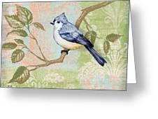 Brocade Songbird II Greeting Card by Paul Brent