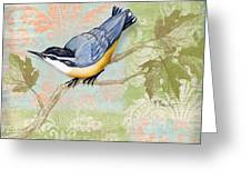 Brocade Songbird IIi Greeting Card by Paul Brent