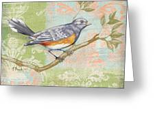 Brocade Songbird Iv Greeting Card by Paul Brent