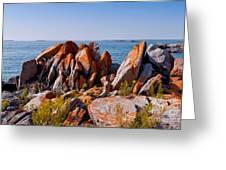 Broken Boulders Greeting Card by Les Palenik