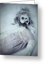 Broken Doll Greeting Card by Joana Kruse