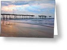 Broken Dreams - Frisco Pier Outer Banks I Greeting Card by Dan Carmichael
