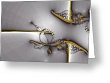 Broken Jewelry-fractal Art Greeting Card by Lourry Legarde