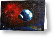 Broken Moon Greeting Card by Murphy Elliott