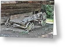 Broken Wagon Greeting Card by Victor Montgomery