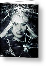Broken Window Greeting Card by Joana Kruse