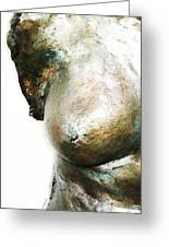 Bronze Bust 1 Greeting Card by Sharon Cummings