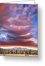 Brooding Storm I Greeting Card by Pat Cross