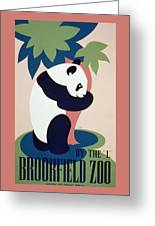 Brookfield Zoo Panda Greeting Card by Unknown