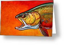 Brookie Portrait  Greeting Card by Savlen Art