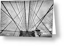 Brooklyn Bridge Greeting Card by John Farnan