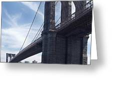 Brooklyn Bridge Greeting Card by Mike McGlothlen