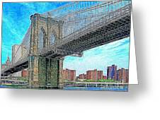 Brooklyn Bridge New York 20130426 Greeting Card by Wingsdomain Art and Photography