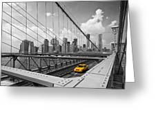 Brooklyn Bridge View NYC Greeting Card by Melanie Viola