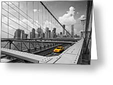 Brooklyn Bridge View Nyc Greeting Card by Melanie Viola